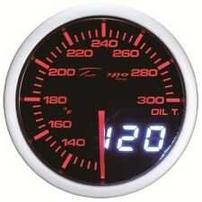 52mm Depo Racing Digital Oil temperature gauge White Red Smoked lens WA5247LED
