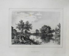 Lithographie XIXème - Marcigny - Émile Deroy - Charles Motte