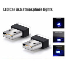 USB Plug-In Miniature Blue LED Mini Wireless Car Interior Ambient Light Dash Hot