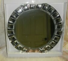 """New Charge It By Jay Mirror Charger Plate Tray With Acrylic Diamonds 13"""" Gorgeou"""