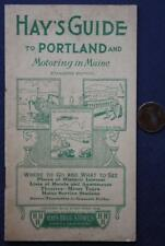 1936 Portland,Maine Hay's Street Guide booklet-Where to Go-What to See with maps