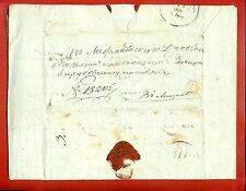 1838s RUSSIA LATVIA RIGA CANCELLED COVER WITH WAX SEAL 3903