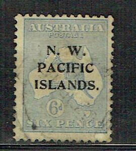 New Guinea NWPI 1919 6d ultramarine used SG 110 as scan