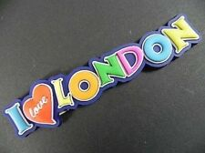 London Rubber Magnet I Love, Font, England United Kingdom Souvenir, NEW
