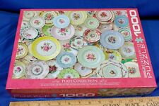 EuroGraphics Puzzle: Plate Collection 1000 piece Jigsaw Puzzle Rare UK Antique