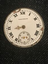 Vintage American Waltham Early Movment And Dial For Parts