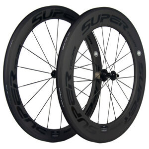 SUPERTEAM Full Carbon Fiber Wheels 60/88mm Combinated Carbon Wheelset 23/25C