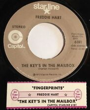 Freddie Hart 45 Fingerprints / The Key's In The Mailbox w/ts reissue