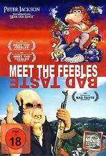 MEET THE FEEBLES & BAD TASTE - Peter Jackson (FSK 18/NEU/OVP)