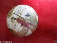 Comme neuf/MEJI/SATSUMA Kogo/Fine Rimpa Travail. en porcelaine 7 cm x 7 cm x 3 cm haute