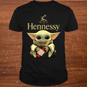 Yoda Baby Hugs Hennessy Cognac Wine Cute Funny Gift T-Shirt Size S-5XL