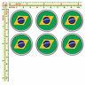 Adesivi targa bandiera brasile flag sticker license plate auto moto 6 pz.