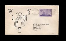 WWII Patriotic Bemedaled Happy Man Victory Alcoa TN 1944 Uncommon Cover 6o