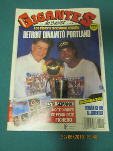 REVISTA GIGANTES. Detroit Pistons Campeones NBA 1990. Numero 242. 25-06-90.