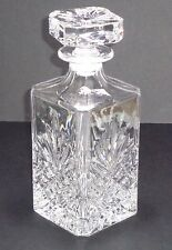 Bohemian Fine Art Cut Glass Clear Decanter Bottle with Lid Ultrafine Decor