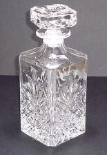 Bohemian Fine Art Cut Glass Clear Decanter Bottle with Lid Ultrafine Decor