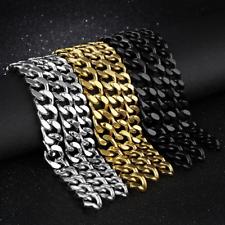 Men's Fashion 316L Stainless Steel Bracelet Curb Lock Link Bracelet Chain Bangle