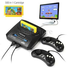 Vintage Retro TV Video Game Console 8 Bit 2 Gamepads With 500 in 1 Cartridge