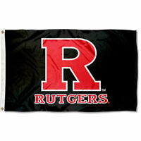 R Black Scarlet Knights Rutgers University 3' x 5' Flag