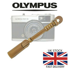 Deluxe TAN Leather Camera Hand Wrist Strap Olympus Trip 35 35RC 35ED PEN 35SP
