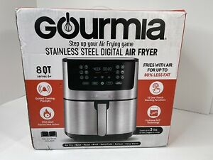 Gourmia 8-Qt. Stainless Steel Digital Non-Stick Air Fryer Open Box