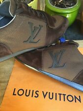 AUTH LOUIS VUITTON MENS SHOES SNEAKERS INITIALES US SIZE 9.5 MADE IN ITALY