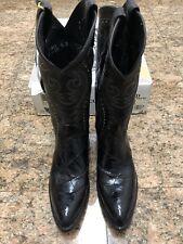 Collectible Dan Post Genuine Crocodile Western Boots NIB