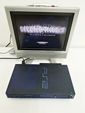 Sony Playstation 2 Midnight Blue & HDD BB Console Working Japan Import