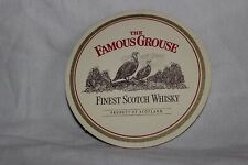Vintage Famous Grouse Beermat Beer Coaster Double Sided