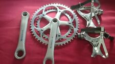 SHIMANO 600 AX DYNADRIVE CRANKSET 52/40 WITH DURA ACE PEDALS