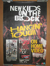 NEW KIDS ON THE BLOCK Hangin' Tough, CMV Home Video promo poster, 1988, 24x36