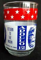 Vintage 1969 NASA Apollo 12 Return To The Moon Commemorative Glass Collectables