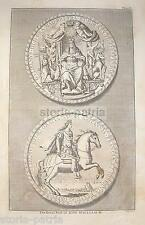 ANTICHE MEDAGLIE_ARALDICA_NOBILTA' ANGLOSASSONE_KING WILLIAM III_GUGLIELMO TERZO