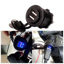 12V Auto Motorrad Steckdose Dual USB Anschluss Ladegerät Bordsteckdose Adapter