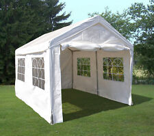 Partyzelt Festzelt Party Zelt Pavillon 3x4 Meter PE weiss Fenster, 38mm Gestänge