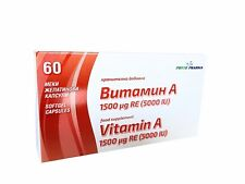 Vitamin A 5000 IU, 60 capsules x 250mg food supplement