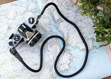 Black Rope Camera Neck Shoulder Strap - UK STOCK - FREE POSTAGE Canon Nikon Fuji