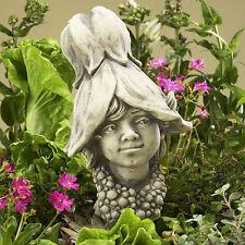 Betonguss Blumenkind 19-90052 Abutilon Gartenfigur Skulptur Dekoration Garten