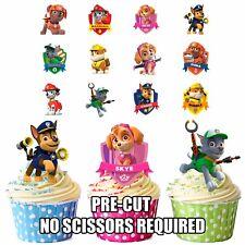 PRECUT Paw Patrol - 36 Comestible Cupcake toppers decorations Niños Niñas Cumpleaños