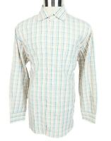 Peter Millar Mens Shirt Button Down Large Long Sleeve Multicolor Plaid Regular