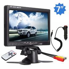 "7"" TFT-LCD Monitor Display For Car Reverse Rear View Backup Camera Universal RCA"