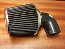 RENAULT 5 GT TURBO NEW BLACK CONE INDUCTION AIR FILTER + BLACK FITTING SILICONE