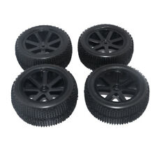4 Pieces RC Buggy Wheels And Tyres 1/10 Scale RC Buggy Wheels & Tires Black