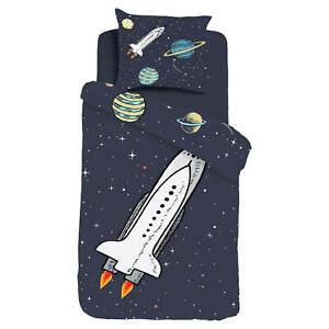 ESPiCO Wende Bettwäsche Sleep and Dream Rocket Rakete Weltall Astronaut Renforcé