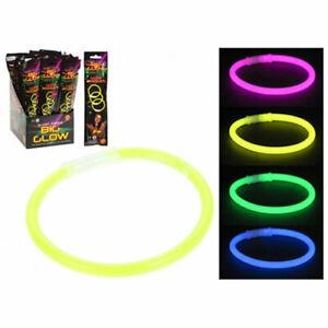 8 inch Glow in the dark ribbon bracelet bangle 4 pack Colours Party Wear wrist