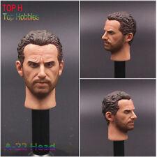 1/6 Male Head Sculpt A-22 Man Head Carving Fit 12'' Hot Toys Action Figure