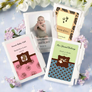 40-200 Personalized Baby Shower White Notebook Favors
