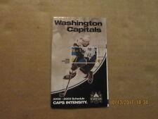 NHL Washington Capitals Vintage Circa 2002-2003 Logo Hockey Pocket Schedule