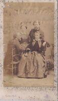 Rosa Bonheur con il suo famille cdv Foto Disdéri Vintage ca di albumina 1860