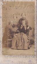 Rosa Bonheur avec sa famille cdv Photo Disderi Vintage albumine ca 1860